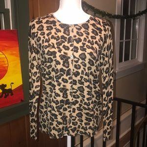 BNWT 41 Hawthorn Jessie Leopard Print Cardigan